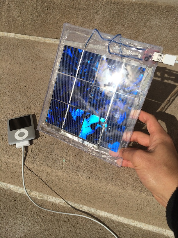 Picture of solar-powered USB charger